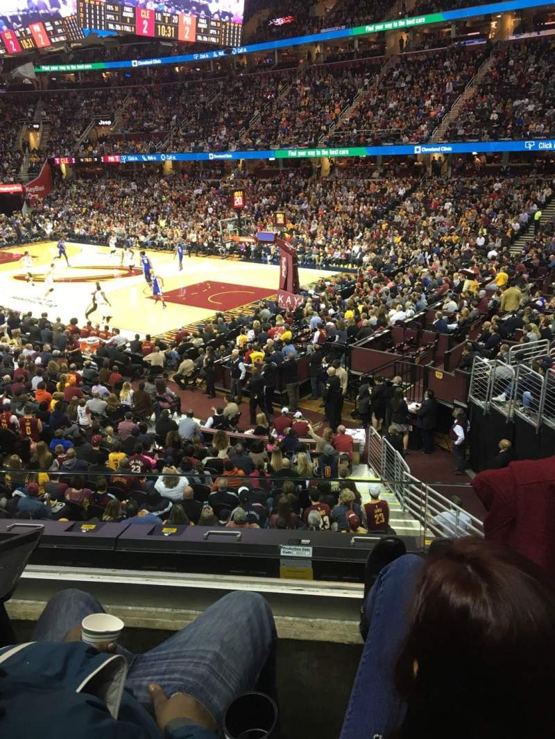 Seating view for Quicken Loans Arena Section 130 Row 16 Seat 4