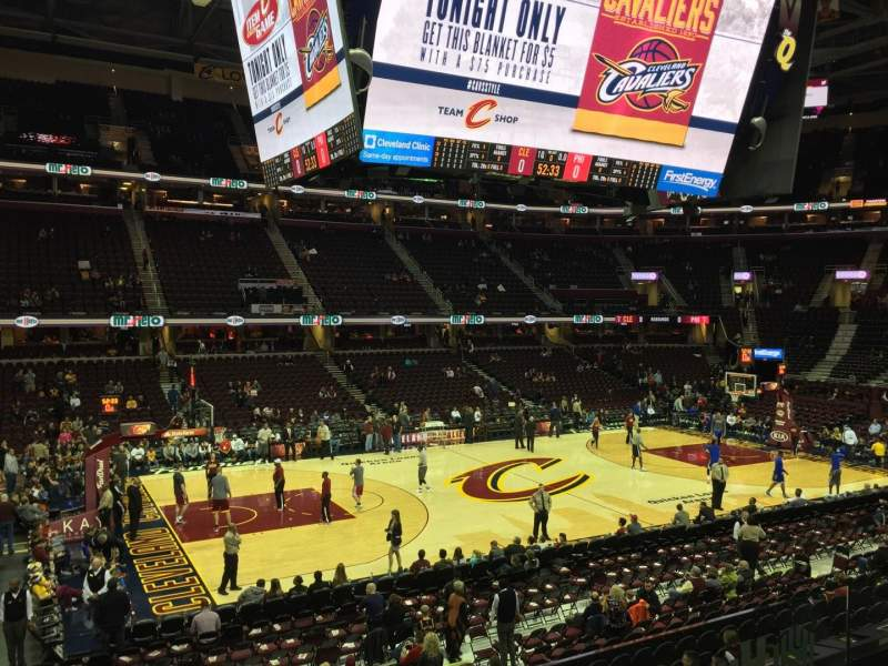 Seating view for Quicken Loans Arena Section C107 Row 16 Seat 5