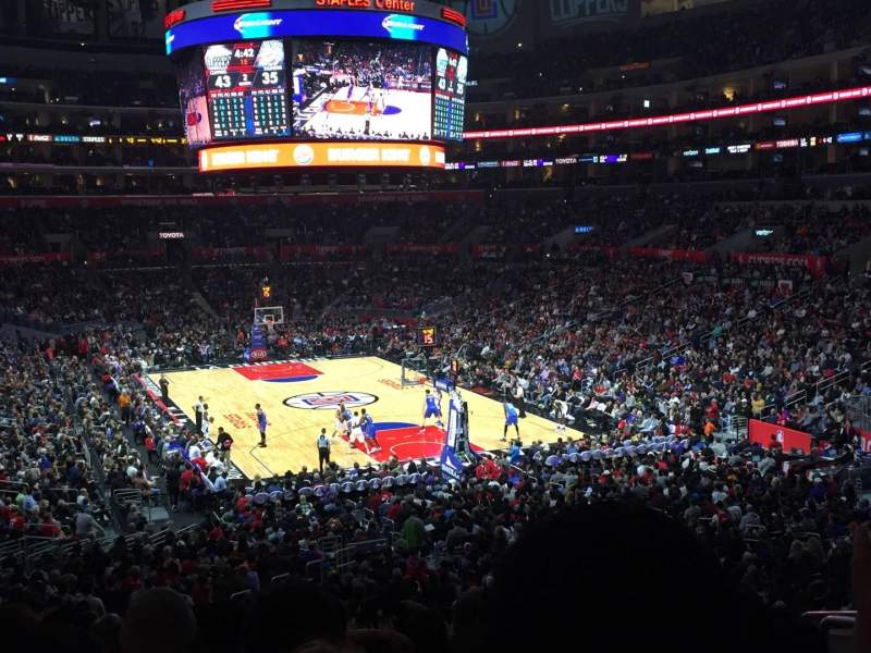 Seating view for Staples Center Section 218 Row 10 Seat 7-8