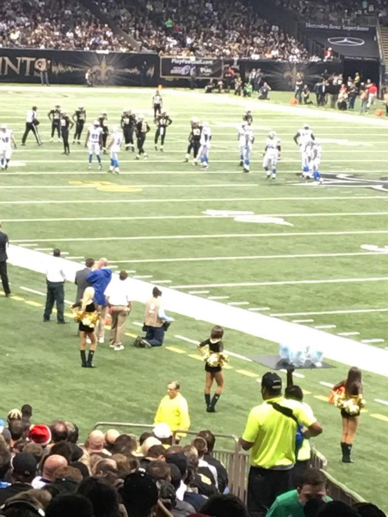 Seating view for Mercedes-Benz Superdome Section 107 Row 35 Seat 2