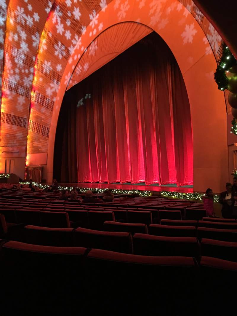 Seating view for Radio City Music Hall Section Orchestra 1 Row TT Seat 106