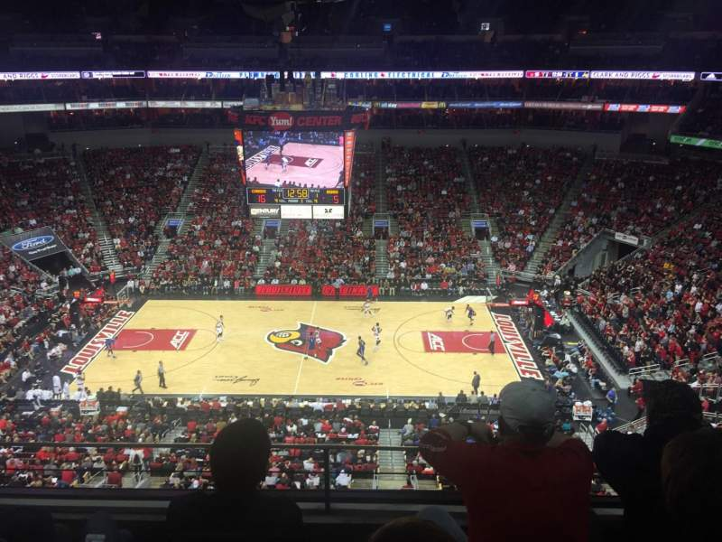 Seating view for KFC Yum! Center Section 323 Row C Seat 3