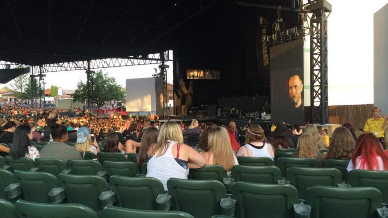 Seating view for KeyBank Pavilion Section 4 Row N Seat 4