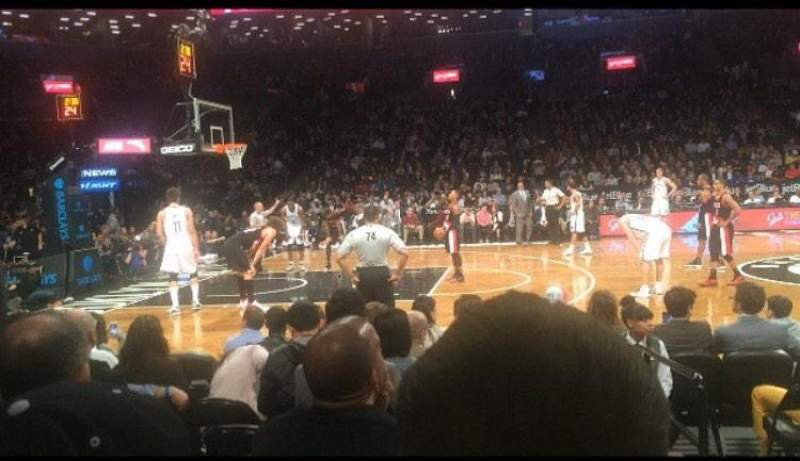 Seating view for Barclays Center Section 25 Row 3 Seat 1