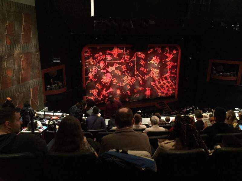 Seating view for Minskoff Theatre Section Rmezz Row H Seat 3
