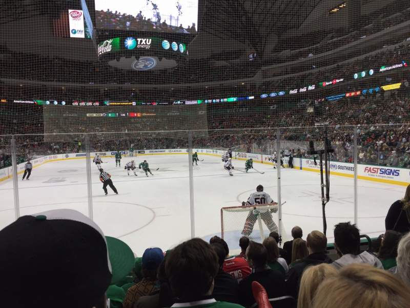 Seating view for American Airlines Center Section 113 Row H Seat 7