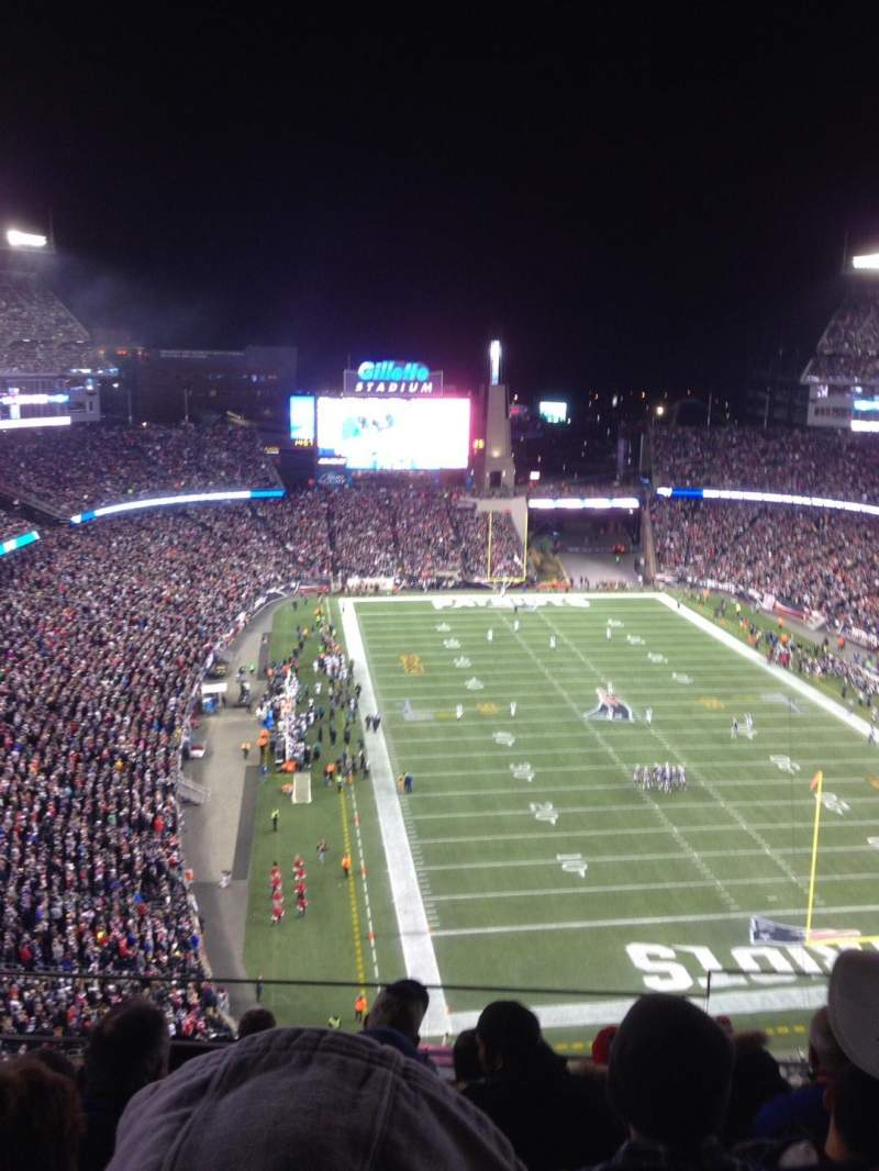 Seating view for Gillette Stadium Section 319