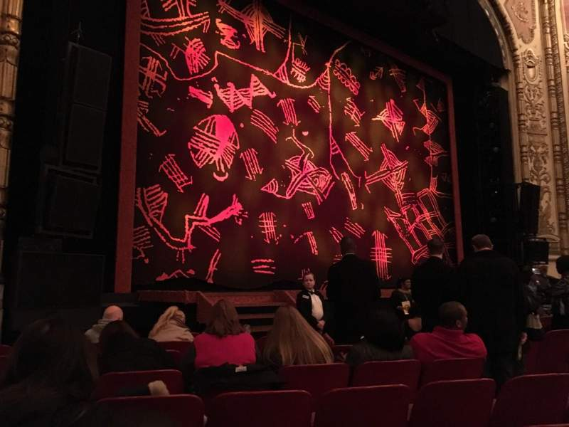 Seating view for Cadillac Palace Theater Section Orchestra L Row H Seat 15