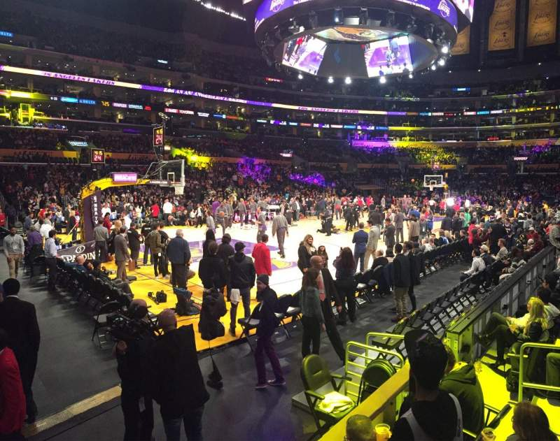 Seating view for Staples Center Section 114 Row 7 Seat 1