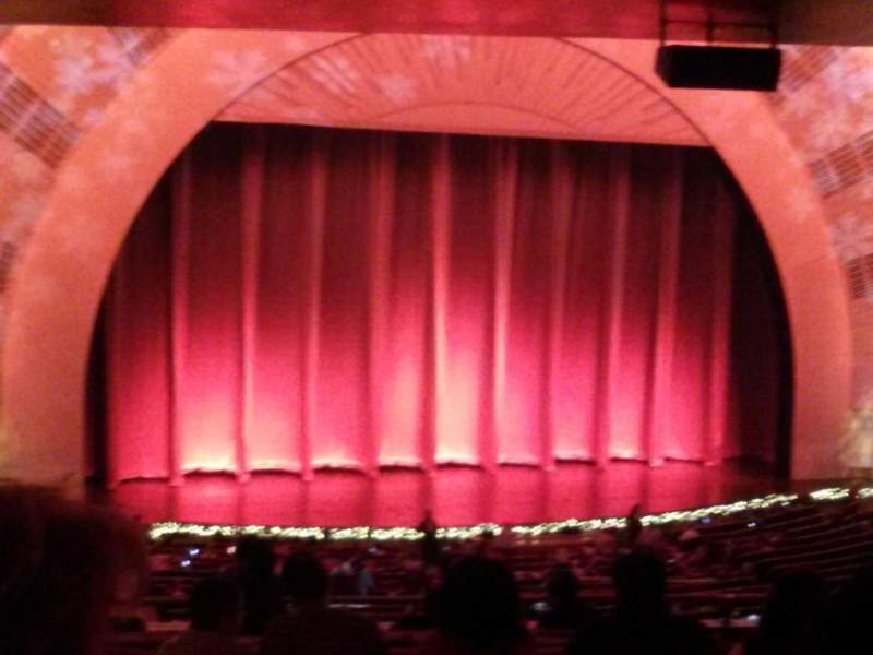 Seating view for Radio City Music Hall Section 1st Mezzanine 6 Row J Seat 607