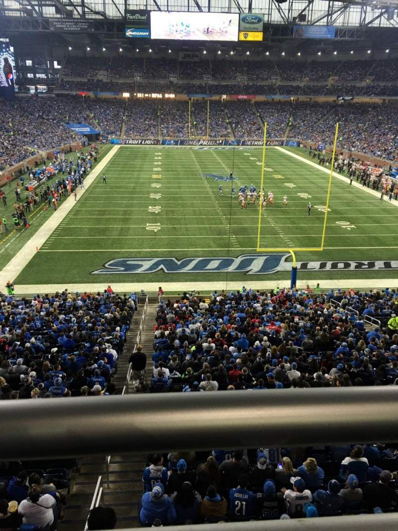 Seating view for Ford Field Section 217 Row 1 Seat 20