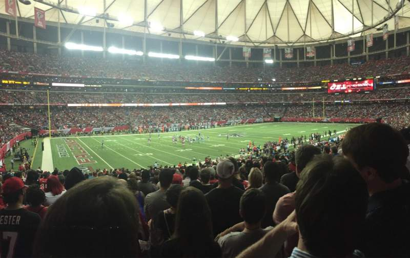 Seating view for Georgia Dome Section 101 Row 31 Seat 4