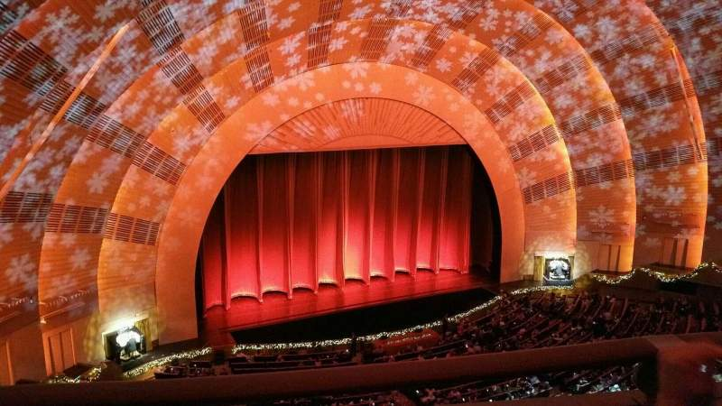 Seating view for Radio City Music Hall Section 3rd Mezzanine 6 Row B Seat 612