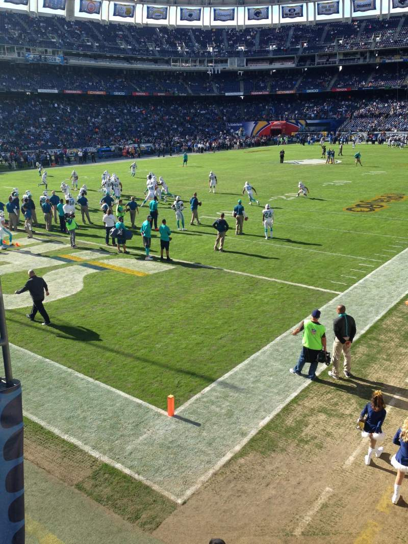Seating view for Qualcomm Stadium Section P55 Row C Seat 16-17