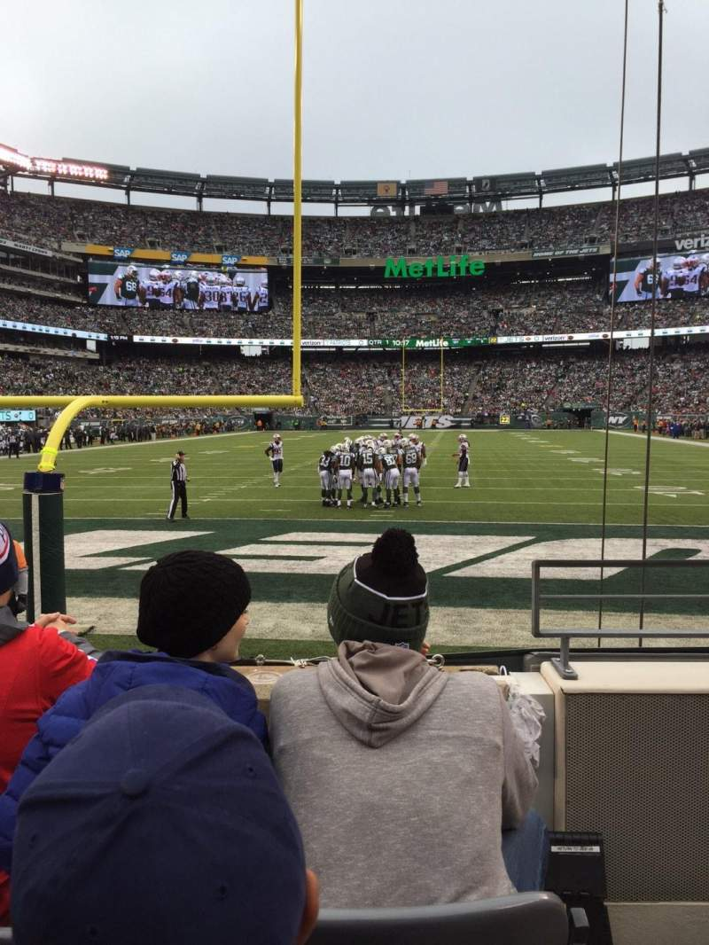 Seating view for MetLife Stadium Section 101 Row 3 Seat 1