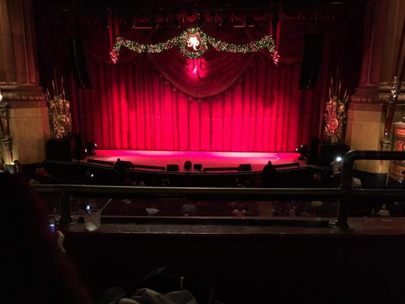 Seating view for Beacon Theatre Section Loge Center Row B Seat 111-112