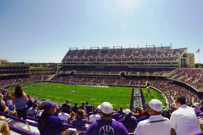 Seating view for Amon G. Carter Stadium Section 231 Row DD Seat 15