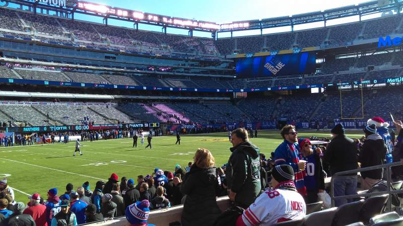 Seating view for MetLife Stadium Section 143 Row 5 Seat 8