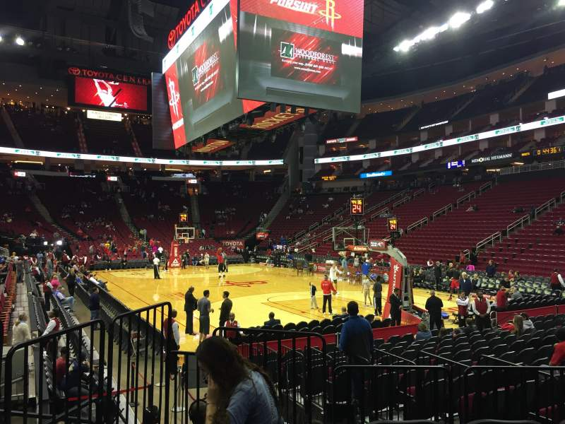 Seating view for Toyota Center Section 102 Row 8 Seat 10