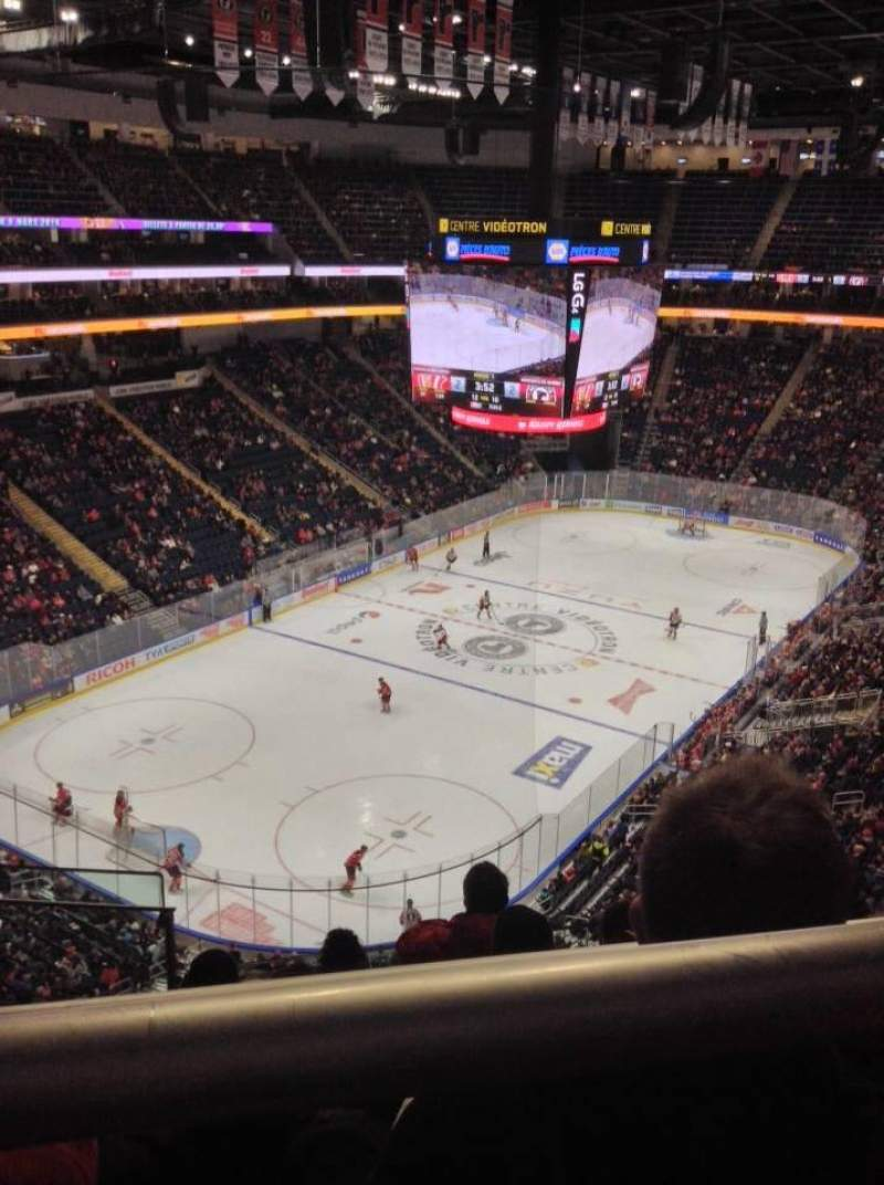 Seating view for Centre Vidéotron Section 206 Row E Seat 18