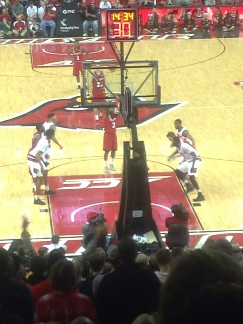 Seating view for KFC Yum! Center Section 111 Row HH Seat 115