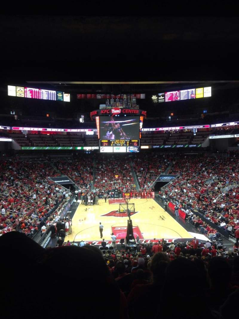Seating view for KFC Yum! Center Section 111 Row HH  Seat 15