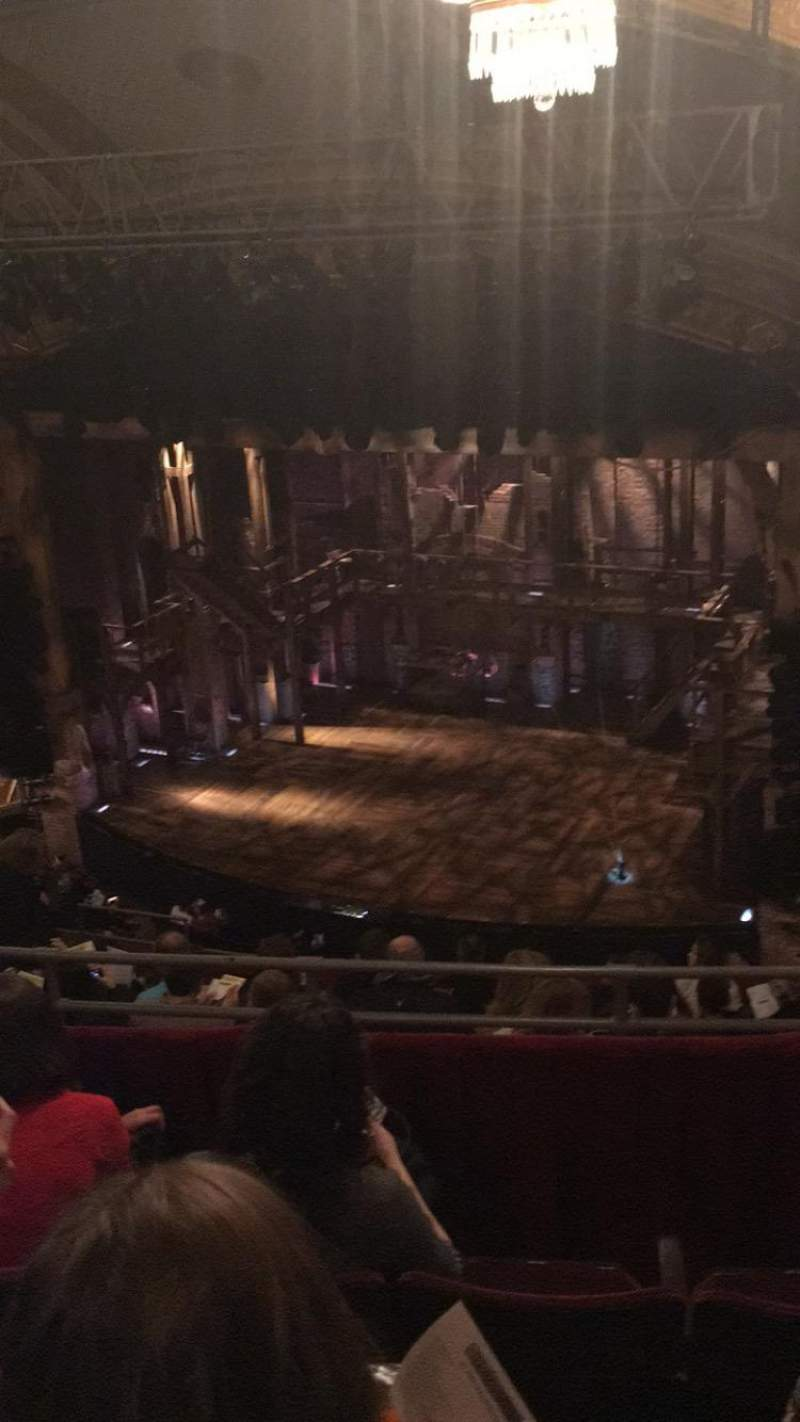 Seating view for Richard Rodgers Theatre Section R Mezz Row D Seat 26