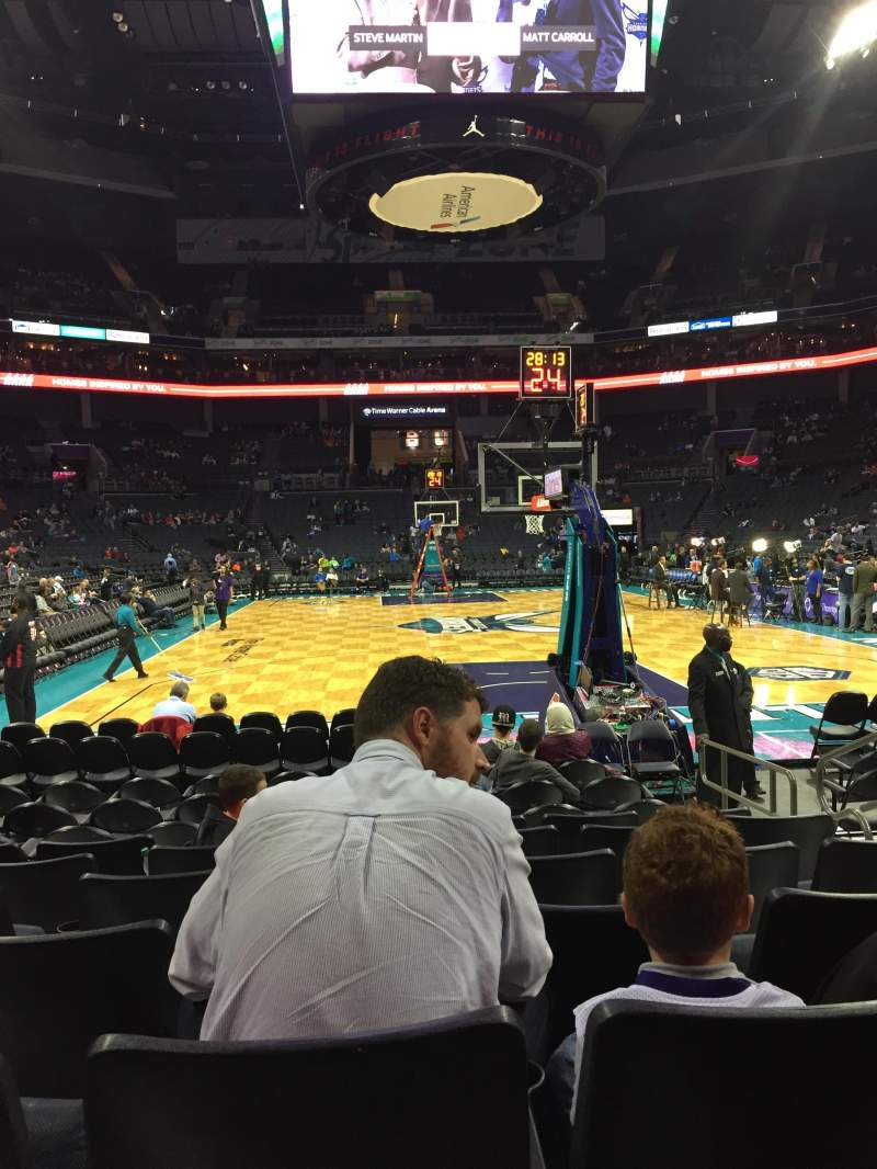 Seating view for Spectrum Center Section 110 Row G Seat 4