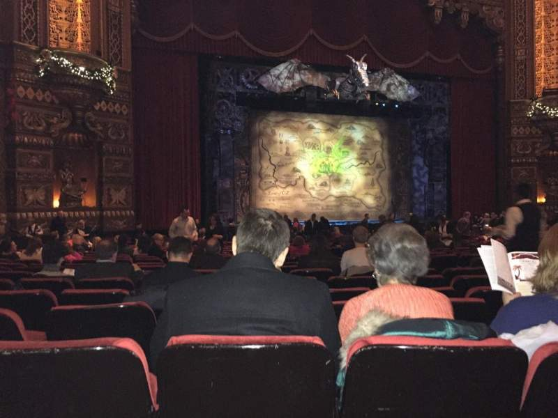 Seating view for The Fabulous Fox Theater Section OR02 Row W Seat 15