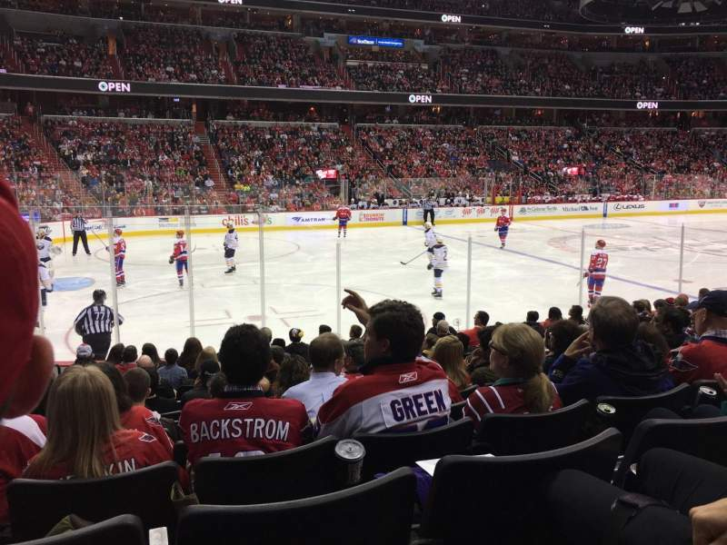 Seating view for Verizon Center Section 109 Row M Seat 9
