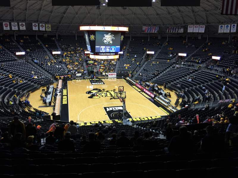 Seating view for Charles Koch Arena Section 126 Row 34 Seat 23