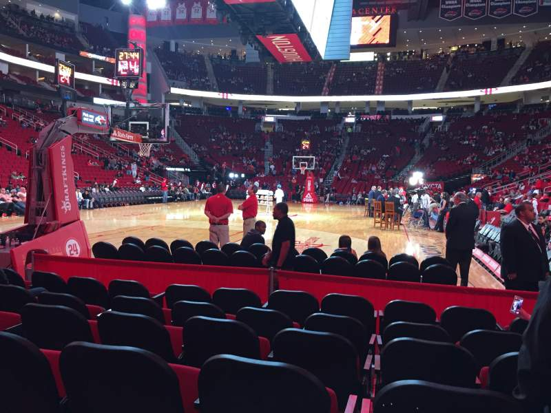 Seating view for Toyota Center Section 126 Row G Seat 4