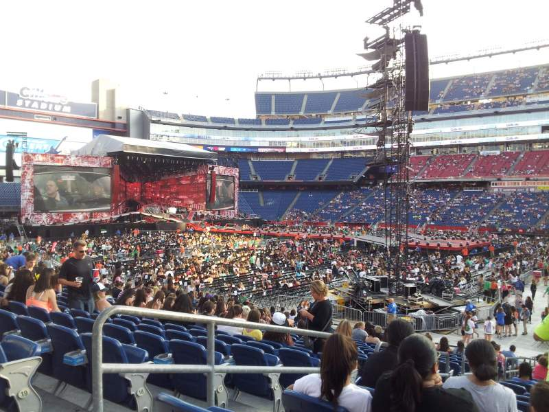 Seating view for Gillette Stadium Section 107 Row 21 Seat 17