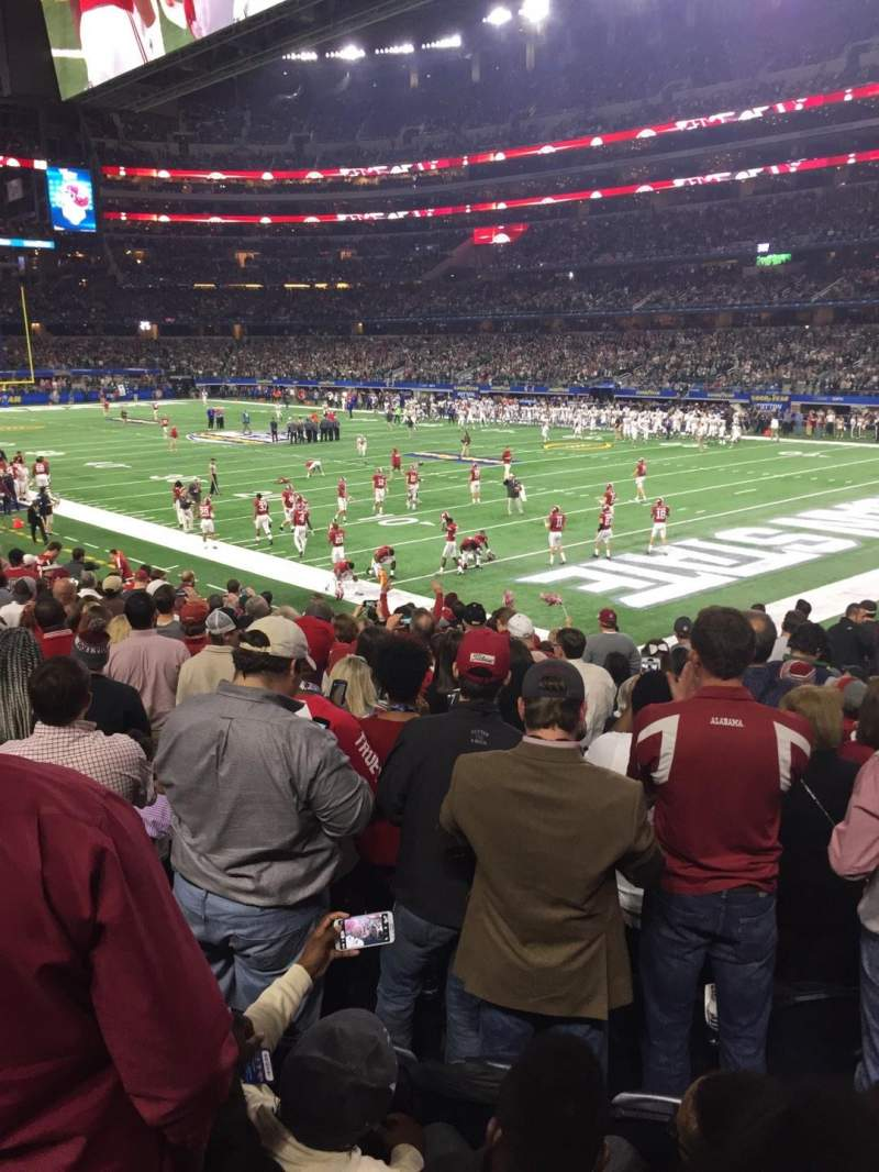 Seating view for AT&T Stadium Section 102 Row 16 Seat 7