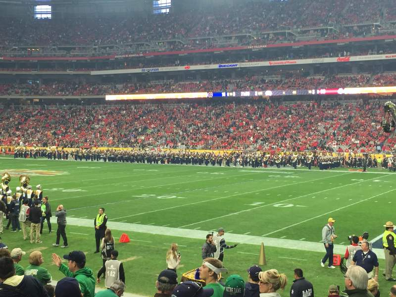 Seating view for University of Phoenix Stadium Section 103 Row 12 Seat 15