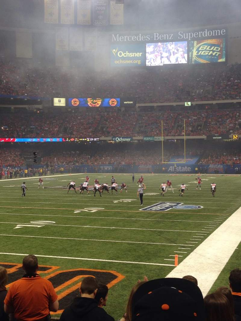 Seating view for Mercedes-Benz Superdome Section 124 Row 8 Seat 25