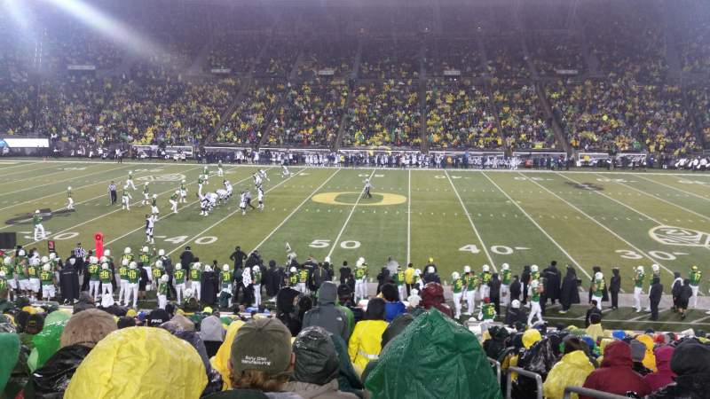 Seating view for Autzen Stadium Section 11 Row 27 Seat 1