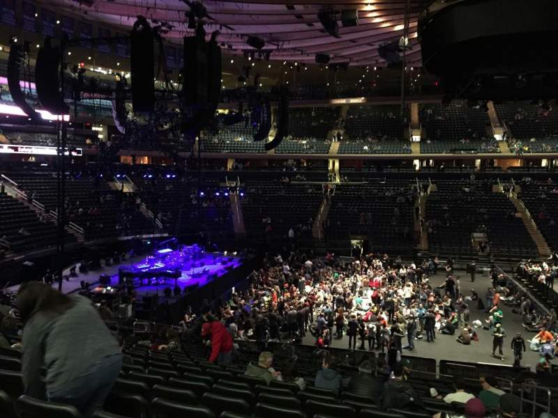 Concert Seat View For Madison Square Garden Section 210