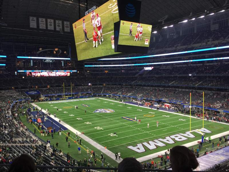 Seating view for AT&T Stadium Section 327 Row 3 Seat 37