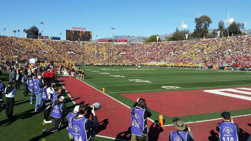 Seating view for Rose Bowl Section 24 Row F Seat 27