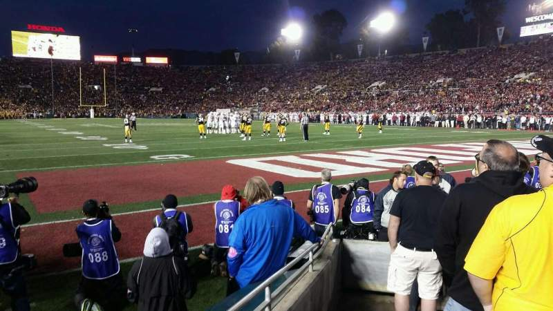 Seating view for Rose Bowl Section 24-L Row F Seat 27