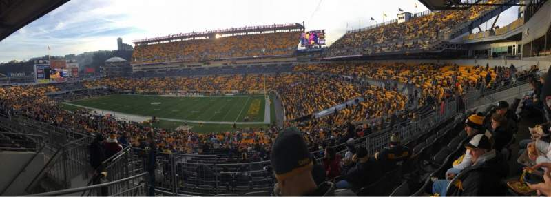 Seating view for Heinz Field Section 215 Row Q Seat 3