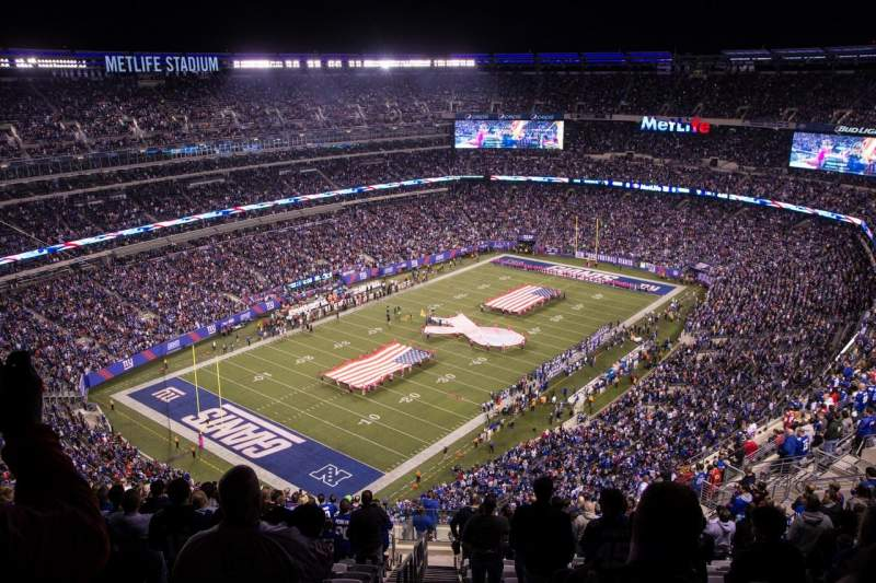Seating view for MetLife Stadium Section 320 Row 25 Seat 39