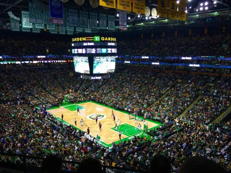 Seating view for TD Garden Section BAL 327 Row 3 Seat 1