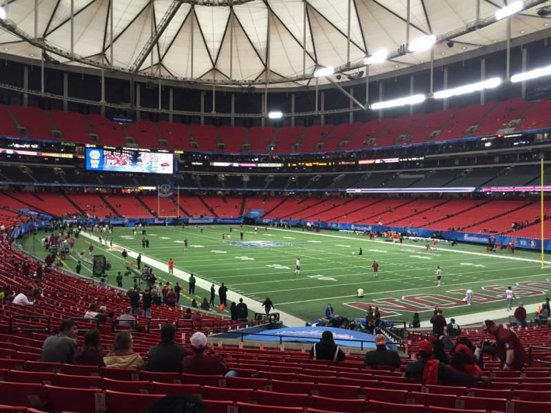 Georgia Dome, section: 109, row: 29, seat: 15