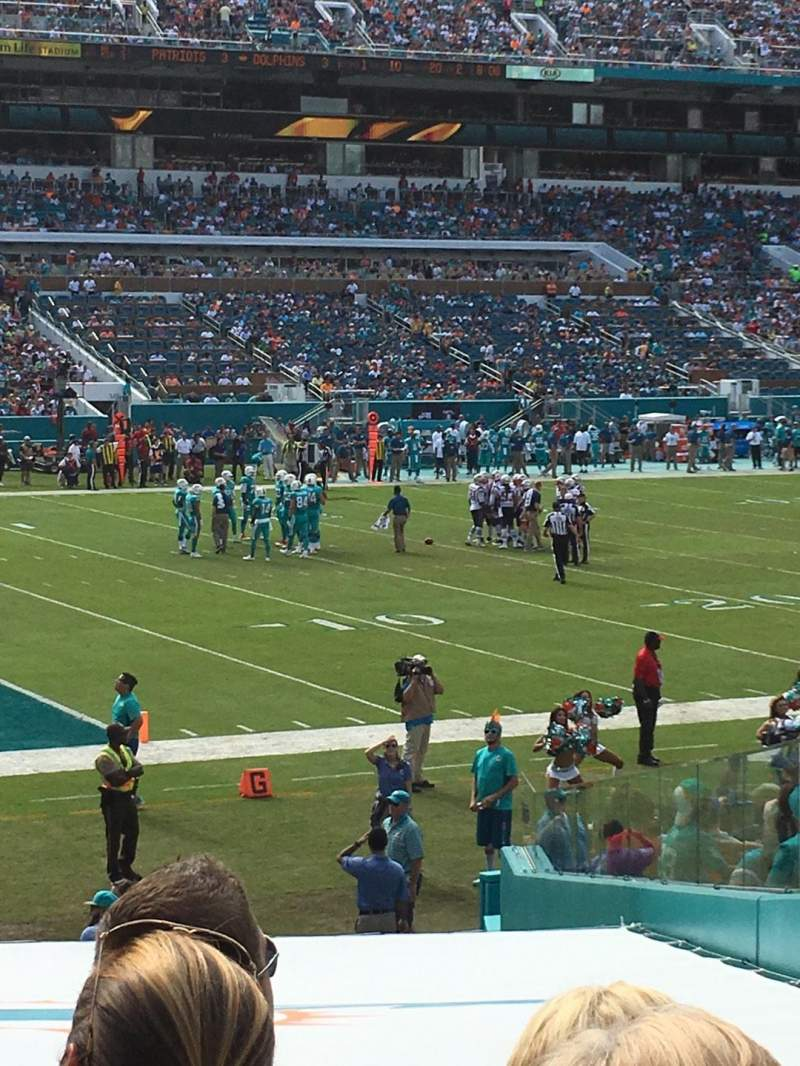 Seating view for Hard Rock Stadium Section 125 Row 7 Seat 7