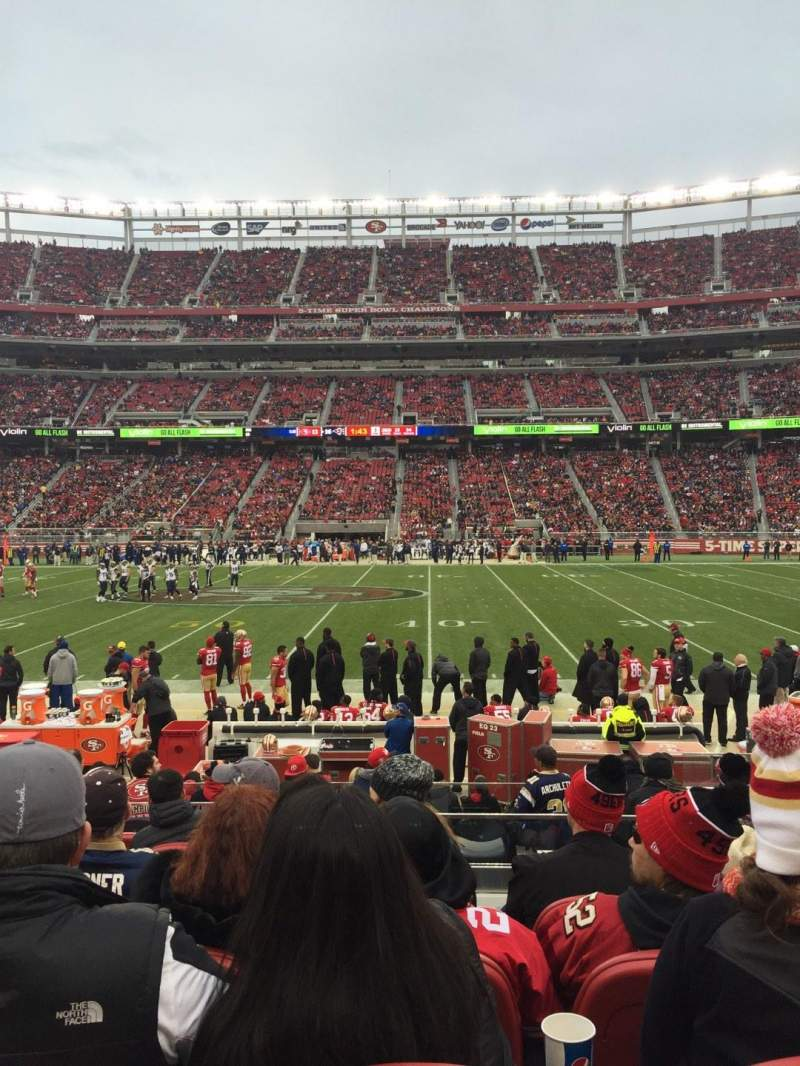 Seating view for Levi's Stadium Section C137 Row 11 Seat 5