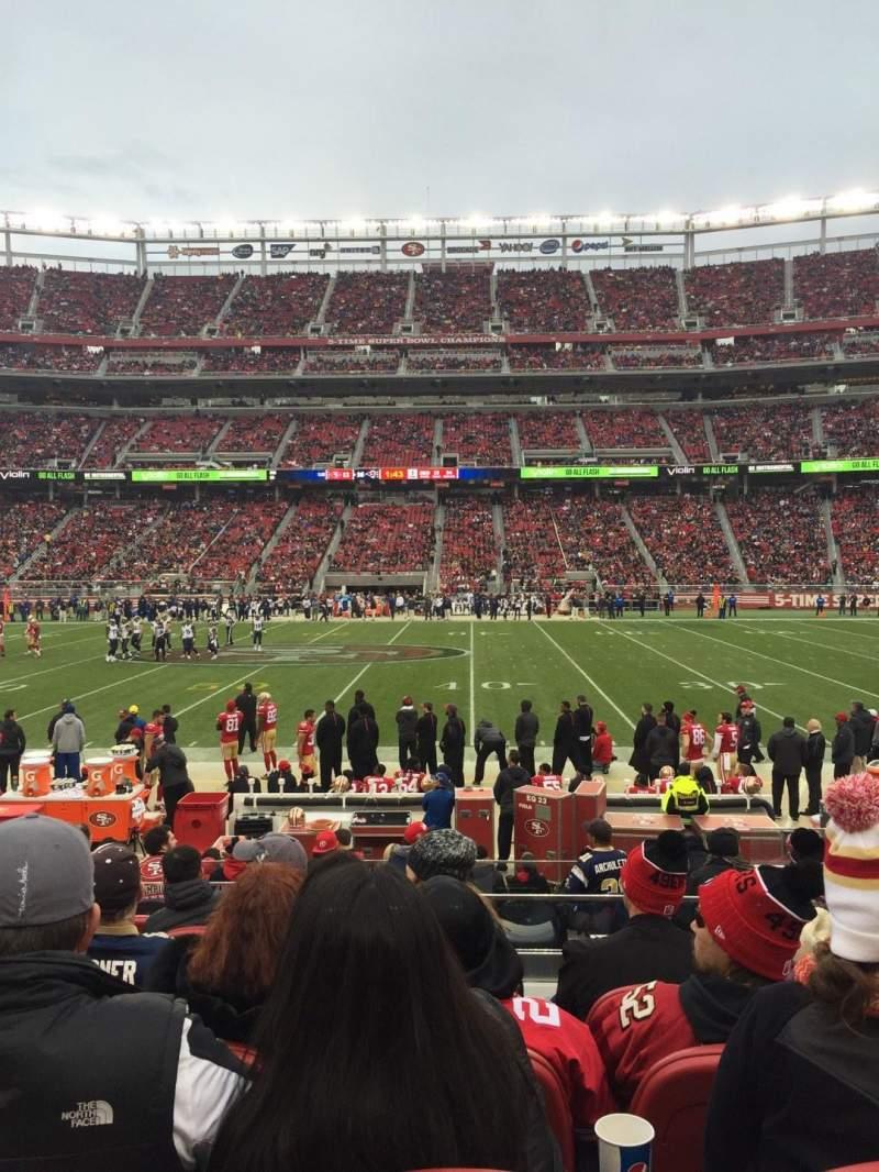 Levi's Stadium, section: C137, row: 11, seat: 5