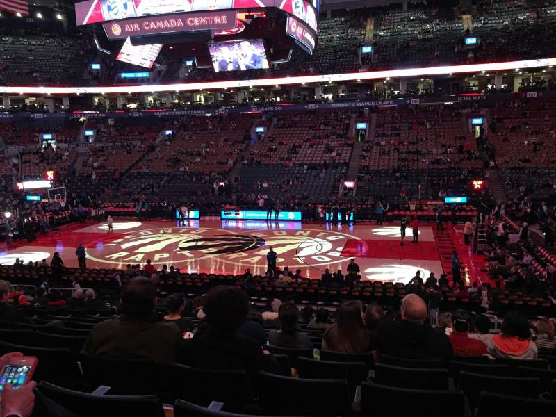 Seating view for Air Canada Centre Section 107 Row 21 Seat 14