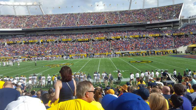 Seating view for Camping World Stadium Section 133 Row N Seat 14